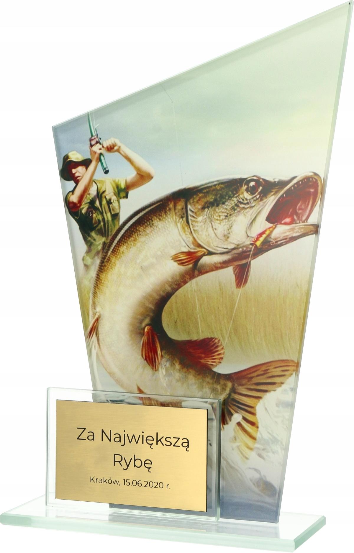Купить СТАТУЭТКА СТЕКЛЯННАЯ РЫБА РЫБАЛКА металлическийВысота СМ на Eurozakup - цены и фото - доставка из Польши и стран Европы в Украину.