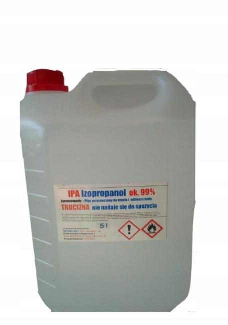 IPA Чистый изопропиловый Спирт ИЗОПРОПАНОЛ 99% 5Л