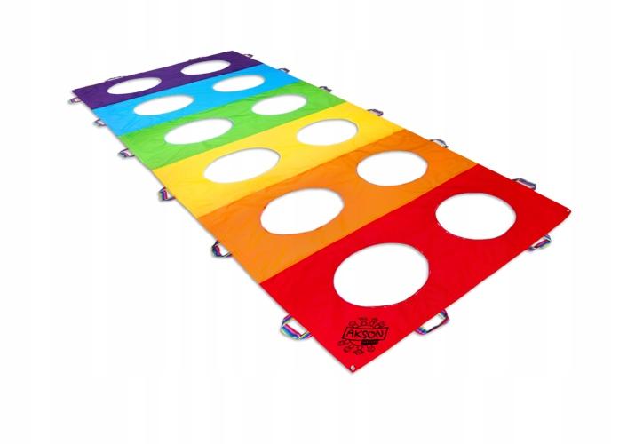 Rainbow Animovaný Mat s Otvormi 100x300 cm