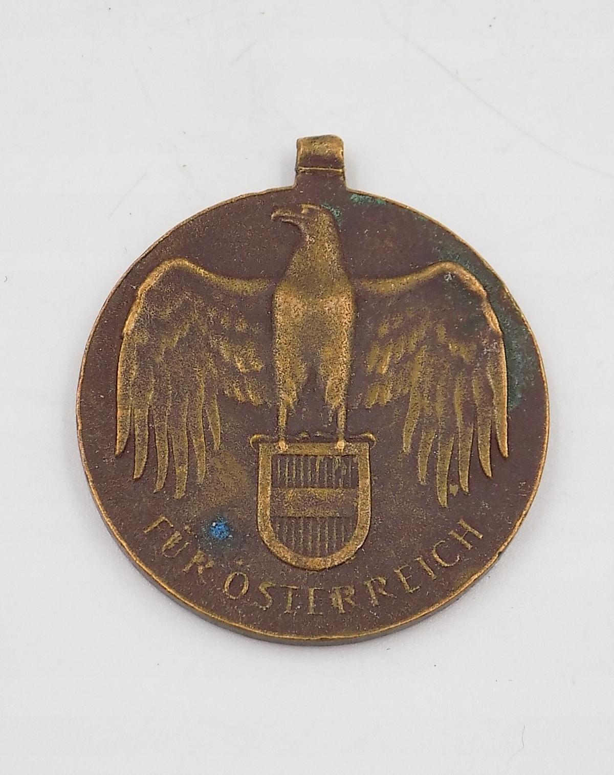 Medaila 1914-18 kožušiny Osterreich Rakúsko