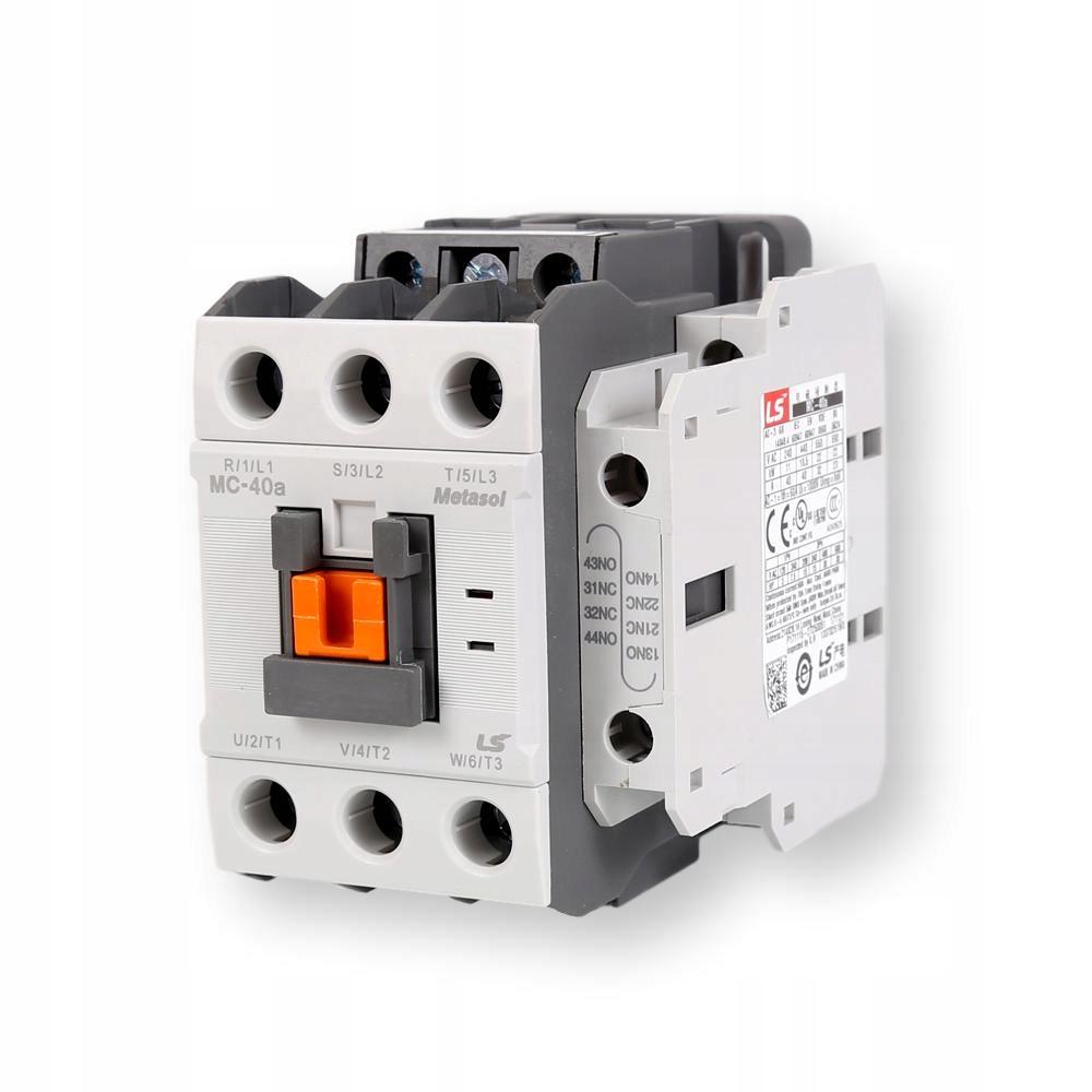 Контактор мощностью 18,5 квт 40А катушка 24VAC MC40-a КОРЕЯ