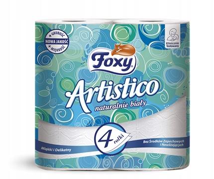 FOXY ARTISTICO туалетная Бумага белая 4 шт. 1569
