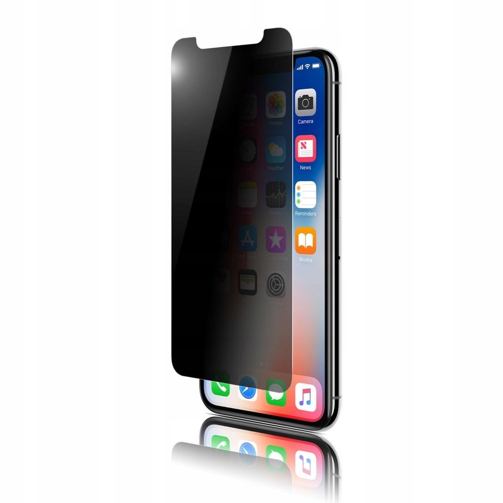 Szkło hartowane 9H+filtr prywatyzując do iPhone Xs