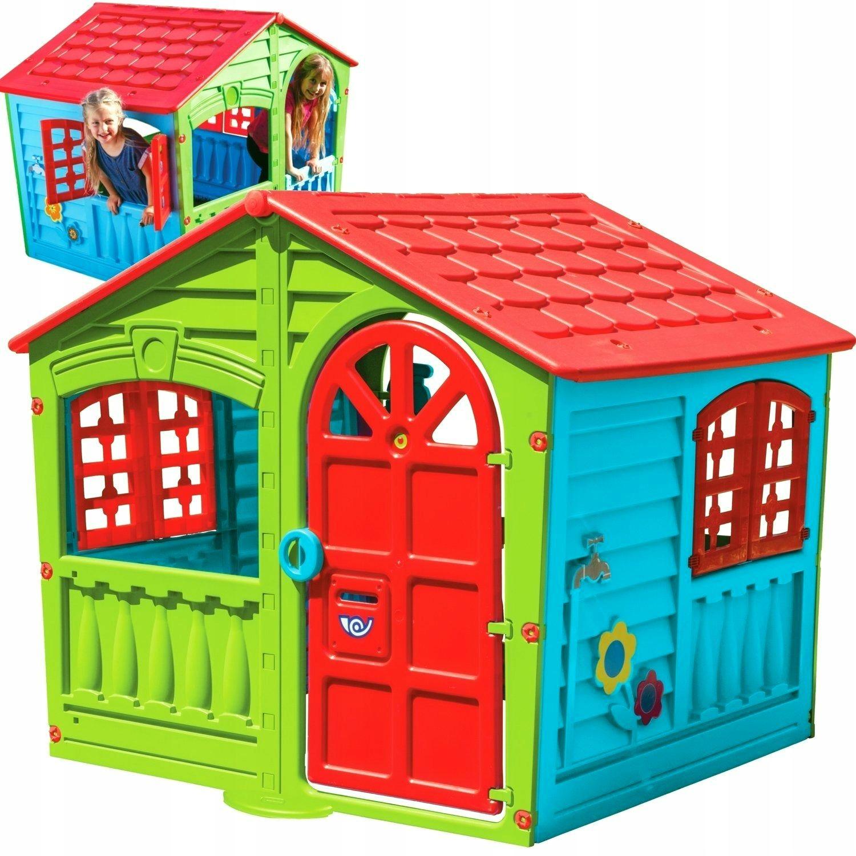 Duzy Domek Ogrodowy Dla Dzieci Okiennice Palplay 9078798204 Allegro Pl
