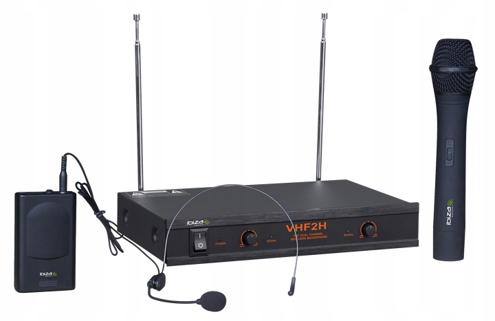 2x mikrofón VHF + IBIZA VHF2H Base. 3l