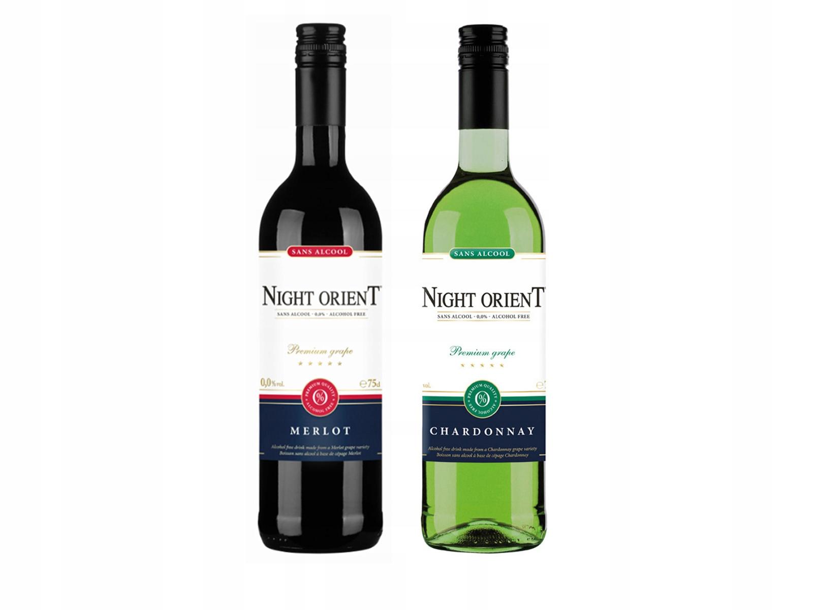 вино Безалкогольные напитки 2x Night Восточный белое +красное