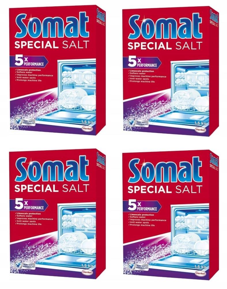 Соль для посудомоечной машины SOMAT SPECIAL SALT 1,5 кг x 4 шт