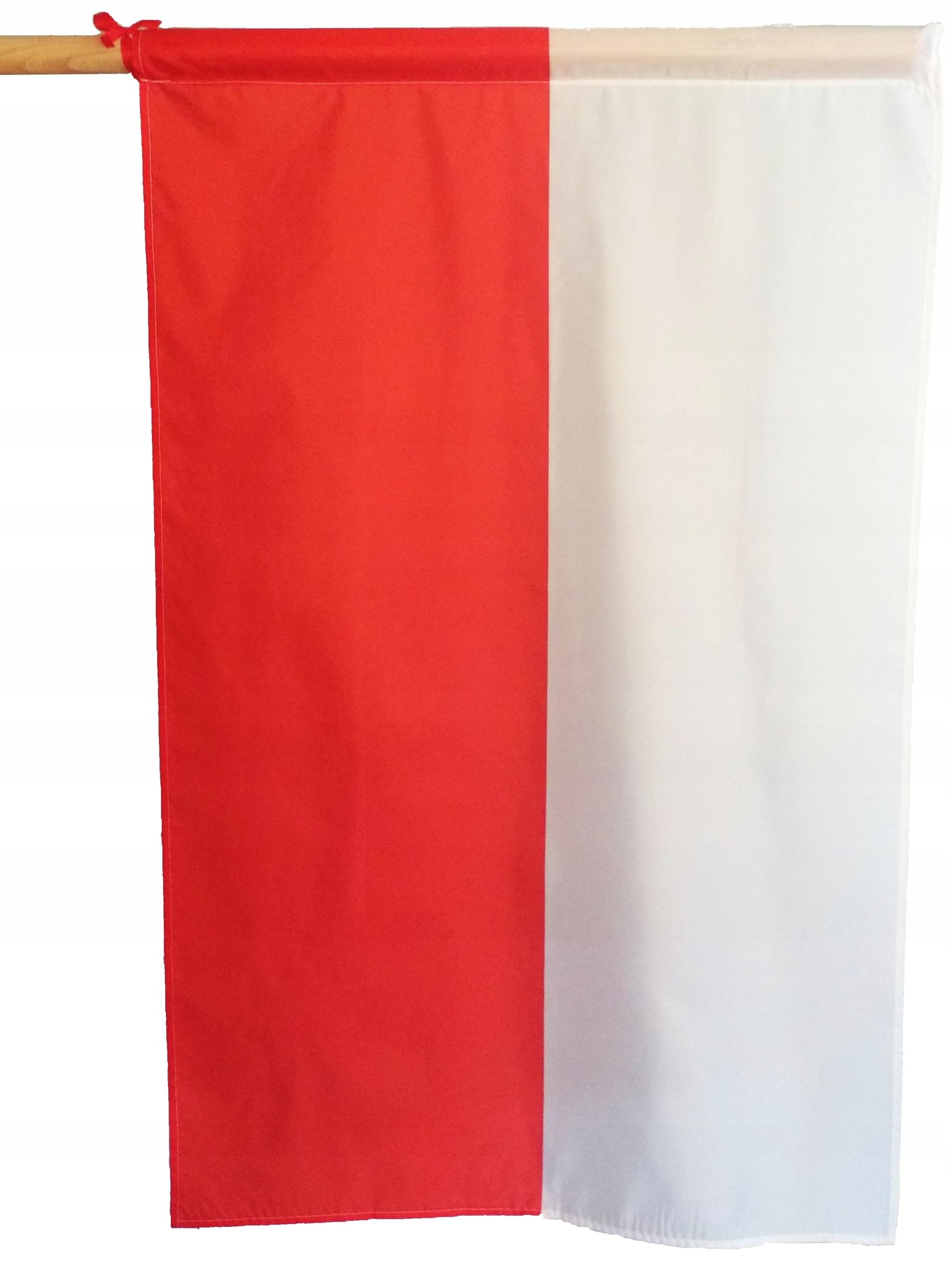 FLAGA POLSKA FLAGI POLSKI TUNEL OBSZYTA 120x75 cm