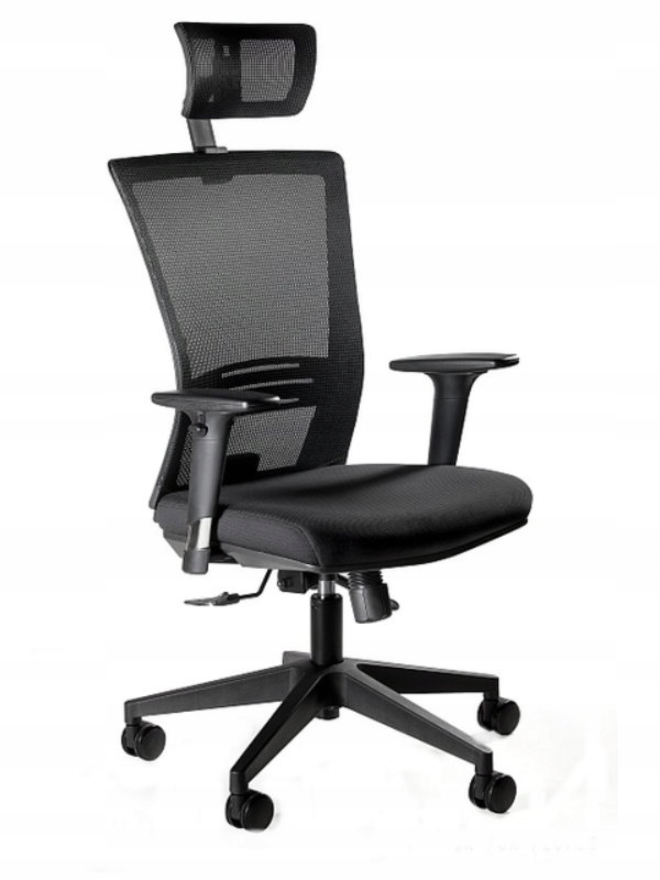 1506H Ergonic stoličky zamestnancov oka Čierna