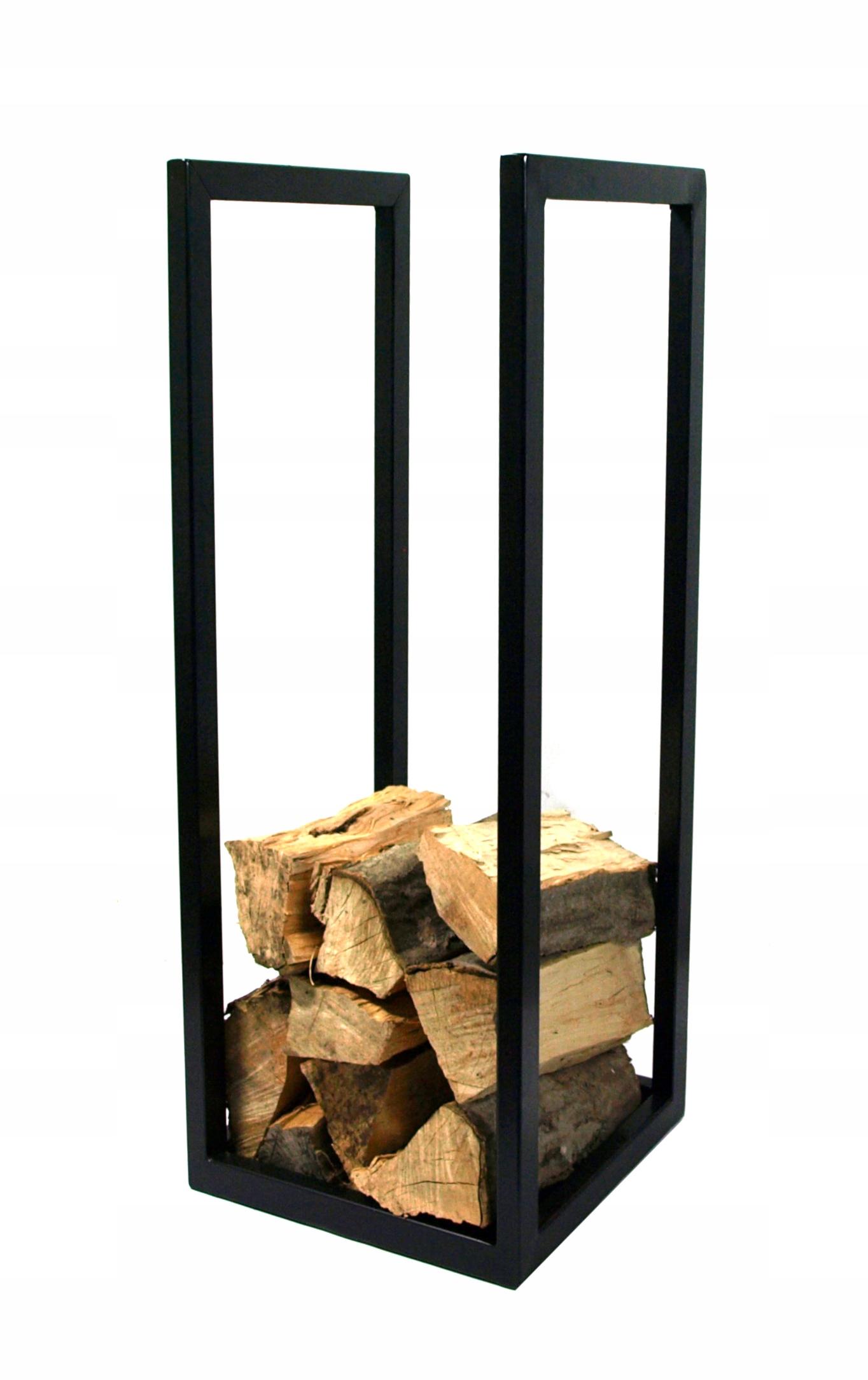 Kosz na drewno, kosz kominkowy 30x30x90 cm KK-06