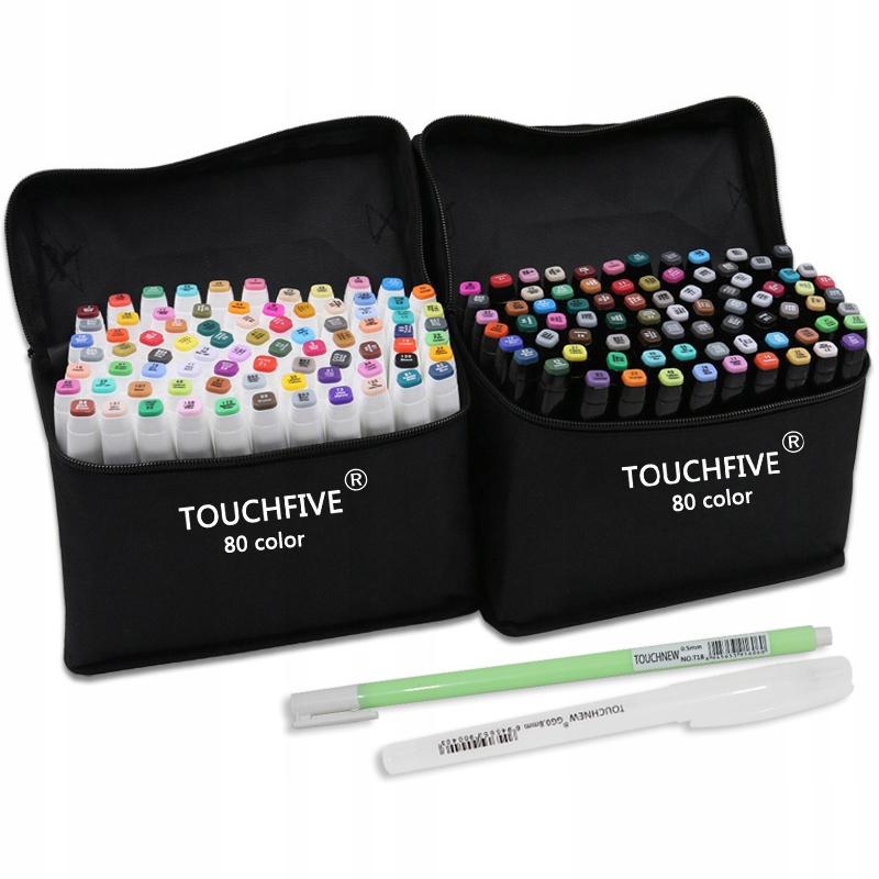 Touchfive Markery 80 Szt Etui Kolory Do Wyboru 8829166405 Allegro Pl