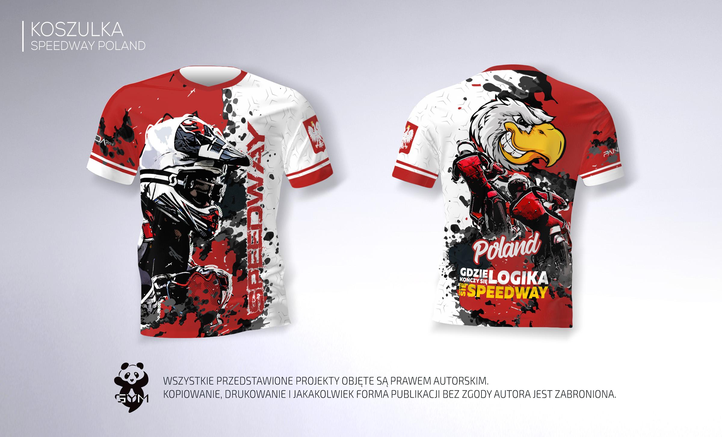 a4ba451a1 Koszulka kibica speedway żużel damska Polska 7364870212 - Allegro.pl