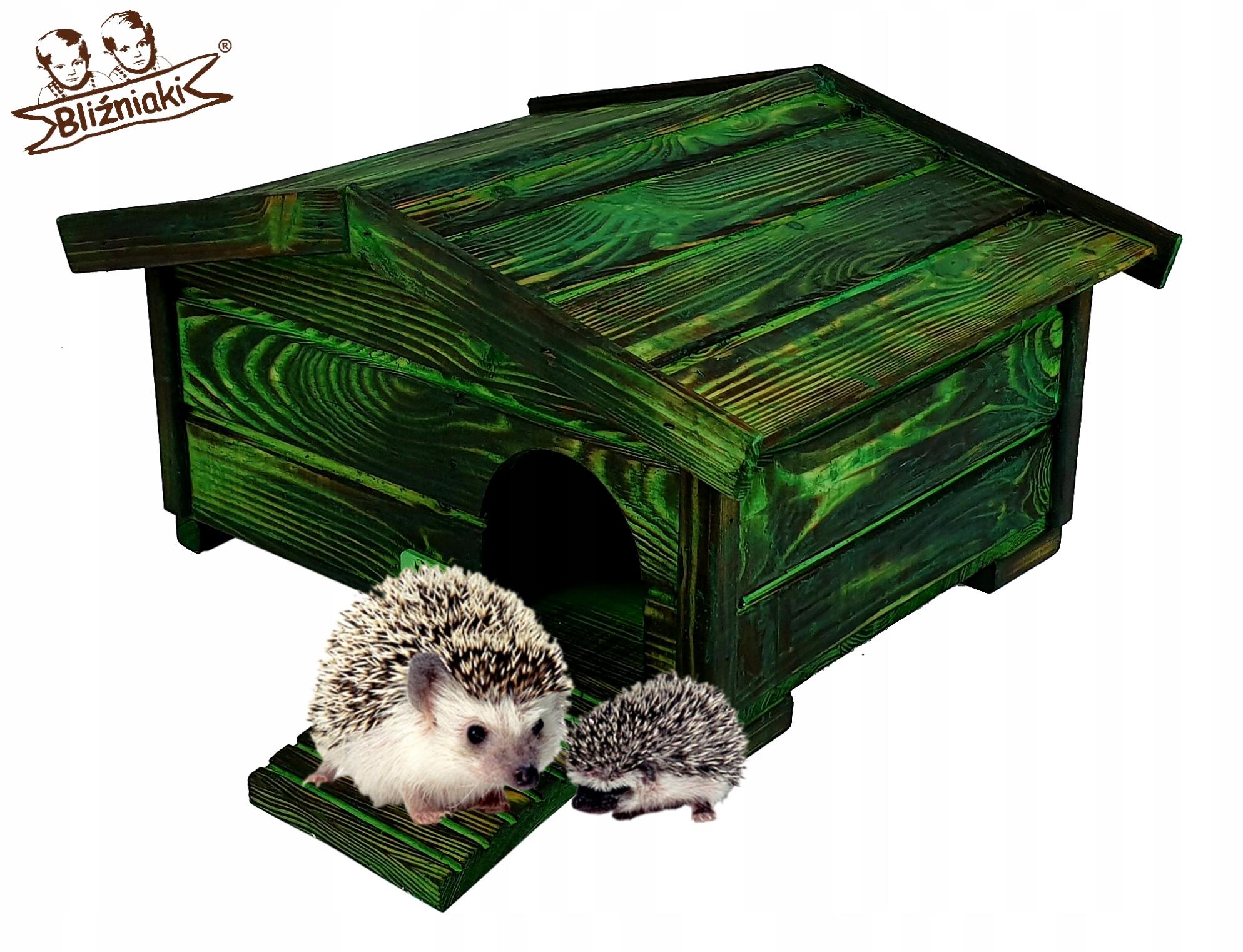 Dom pre JEŽKO, drevené Den Box na hniezdenie Dom