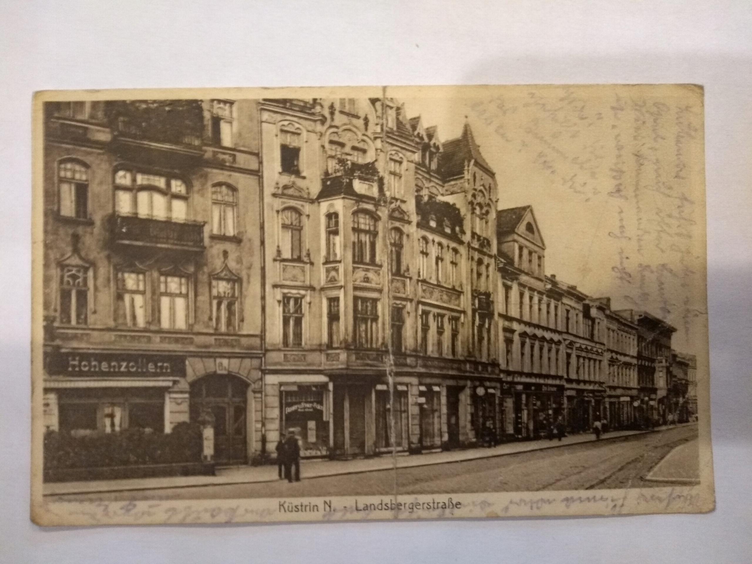 Kostrzyn Kutin Landsbererstrasse pohľadnice