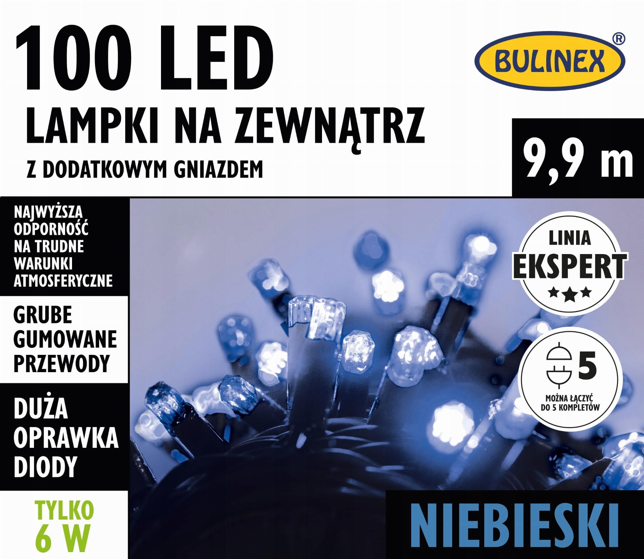 Externá žiarovka LED100 s ďalšou ext. 9,9 m BULINEX modrý