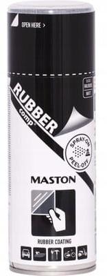 MASTON жидкая резина спрей 400 мл черный матовый
