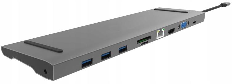 Adapter 10w1 Hub Usb-c 3.1 Hdmi Vga Rj Usb 3,0 Sd