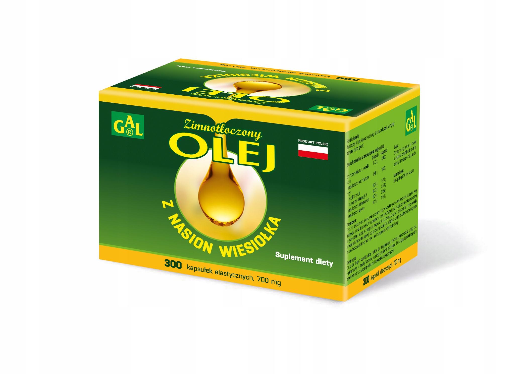GAL Olej z nasion wiesiołka 300 kapsułek