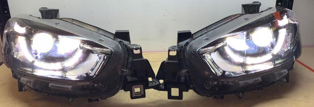 mazda cx5 лампы full led две линзы led 100%
