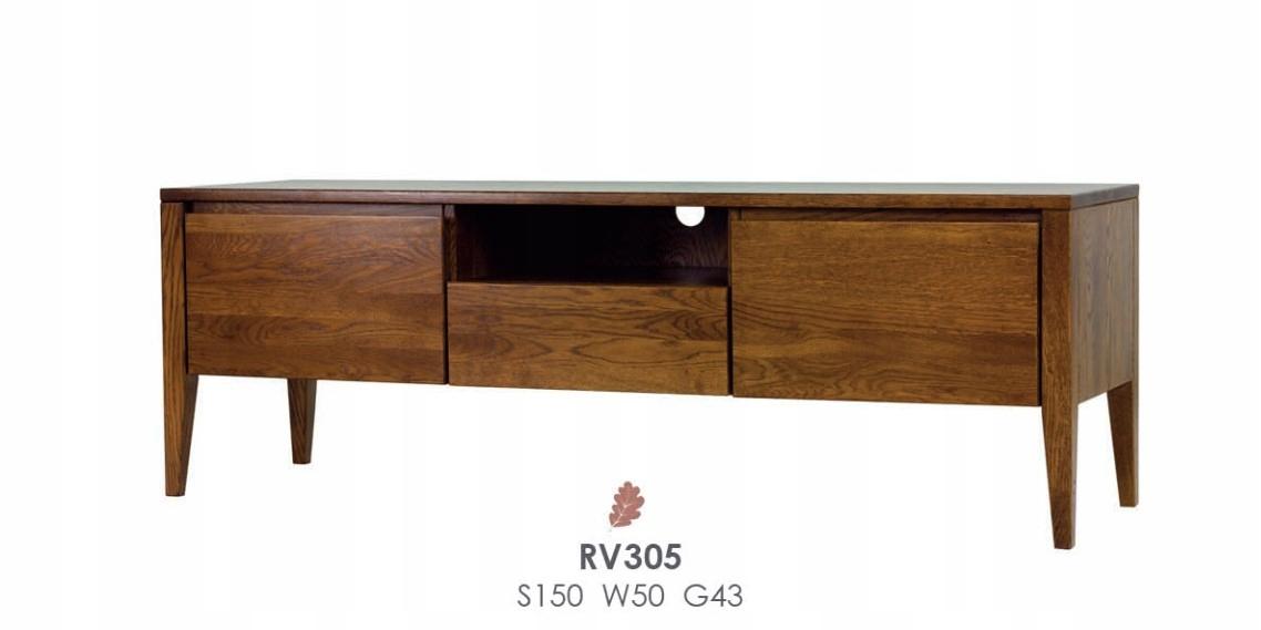 TV stolík RV 305, drevený, dub, dubové drevo