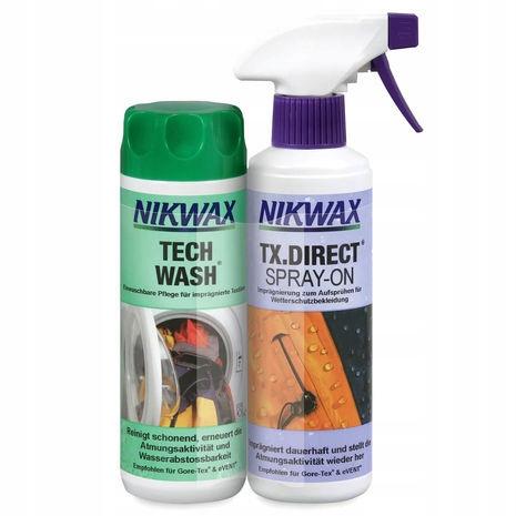 Nikwax Tech Wash 300ml + TX. Direct Spray-On 300ml