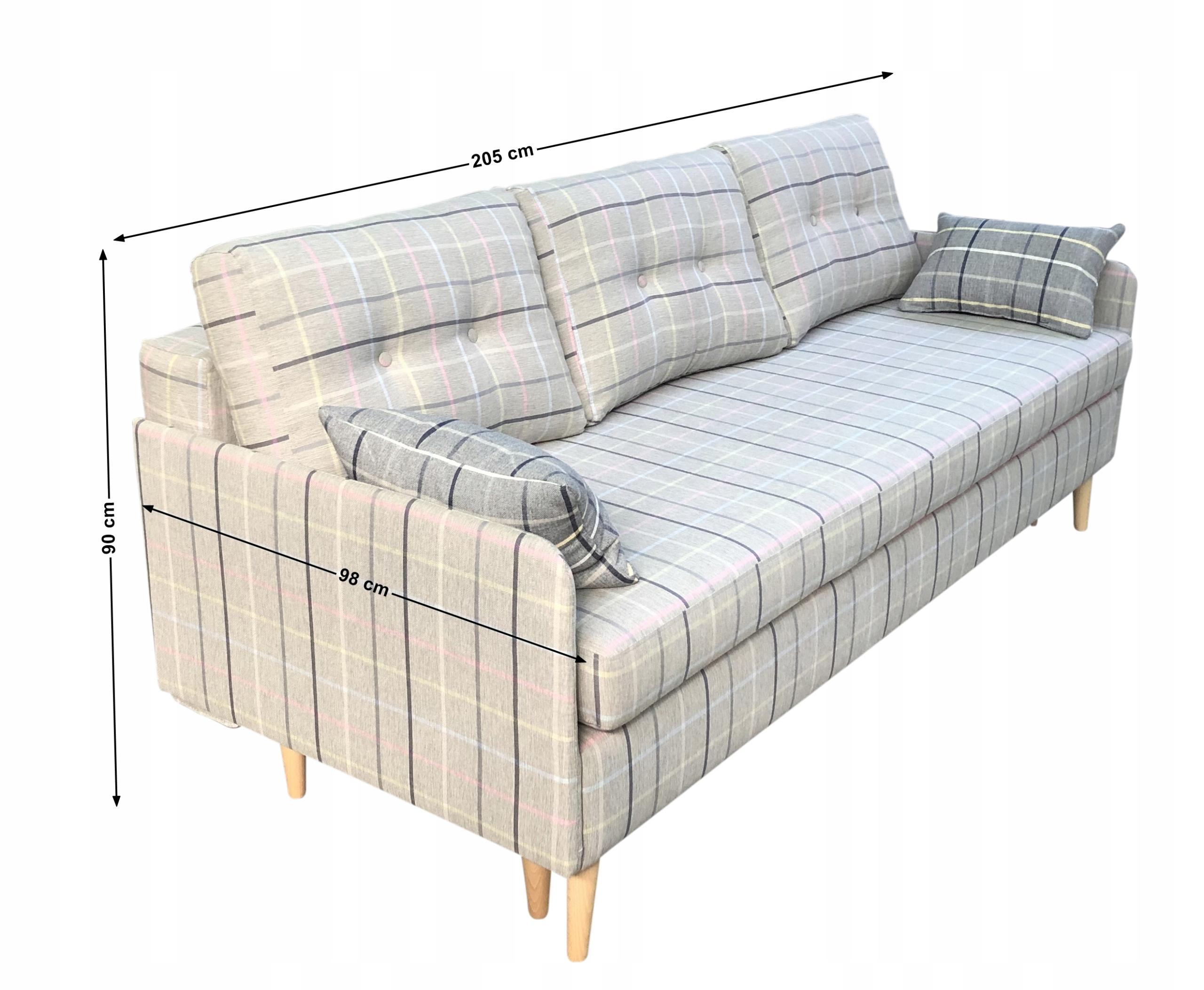 KANAPA CHERRY MINI TROMSO FUNKCJA SPANIA NOWOŚĆ Powierzchnia spania - długość (cm) 191-200 cm