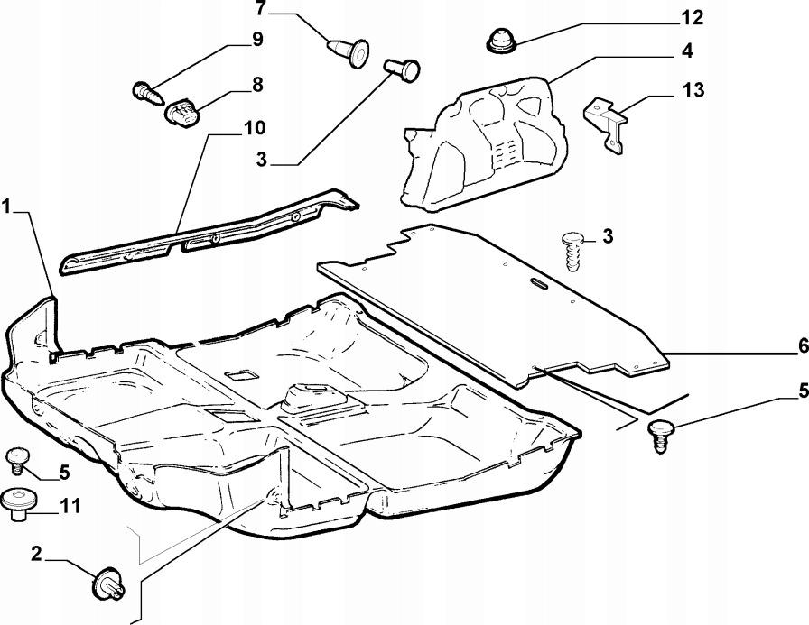 CARPET SHELL TRUNK FIAT ALBEA RIGHT