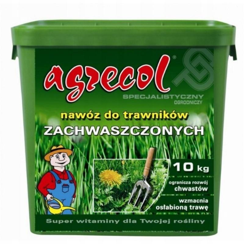Удобрение газоны zachwaszczone 10 кг Agrecol сорняки