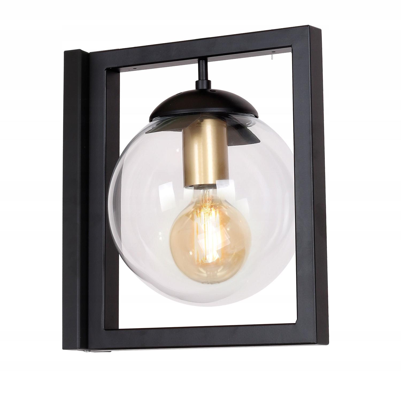 Svetlo sconce kovové loft retro black REY 0846 L