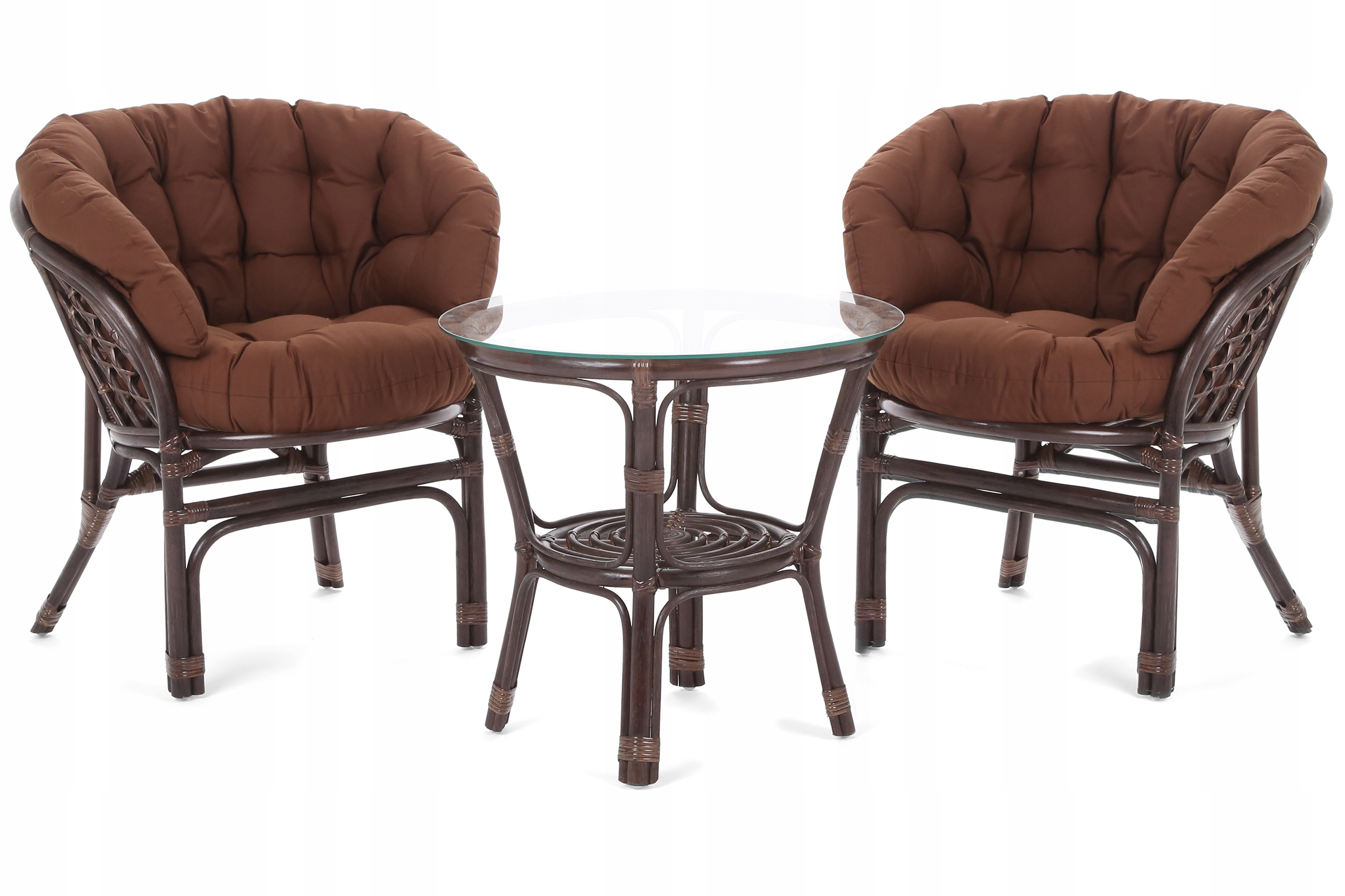 Nábytok ratanový nábytok BAHAMA HNEDÁ / BROWN 2+1