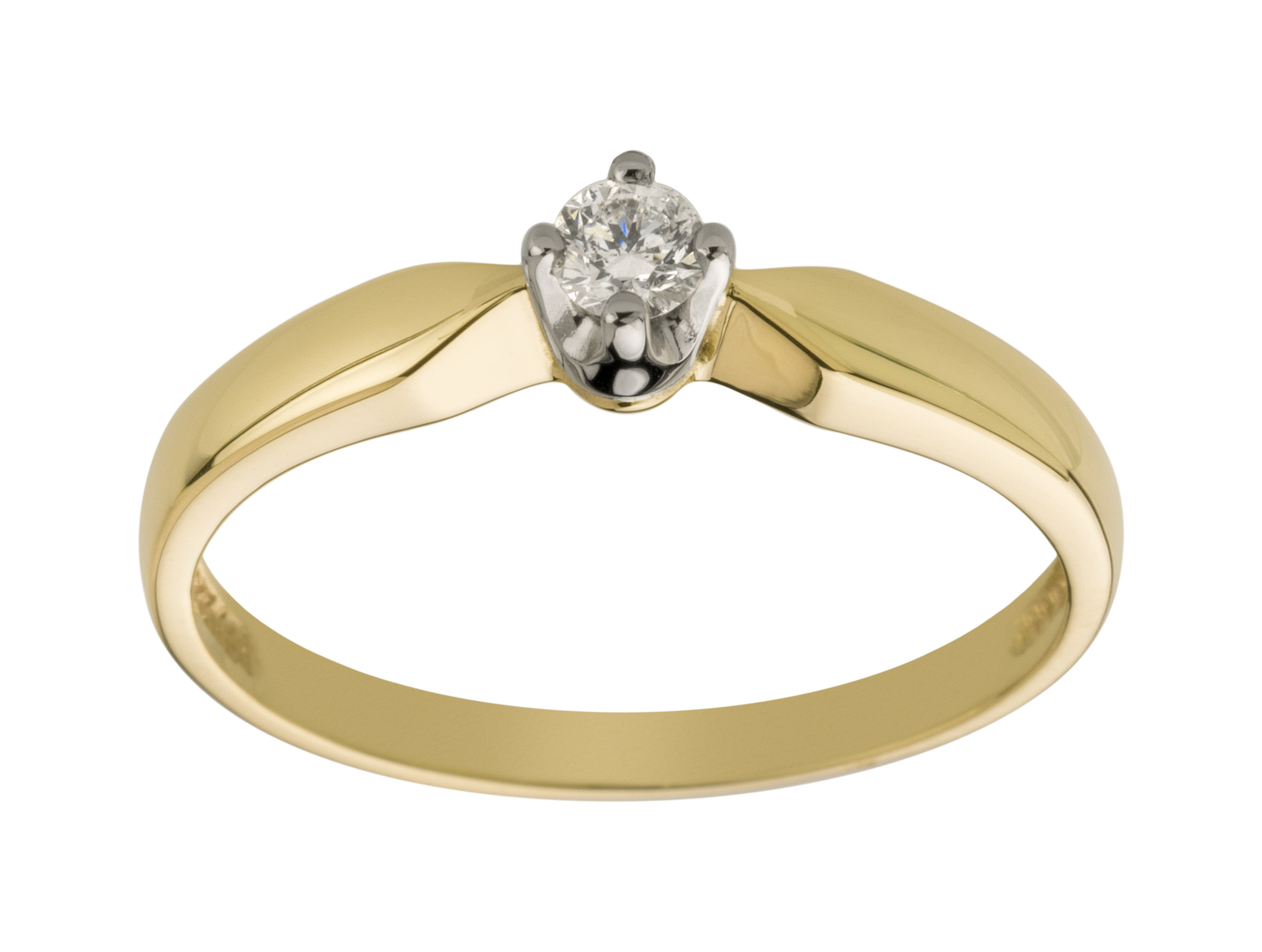 Item GOLD two-tone DIAMOND RING, 0.09 ct