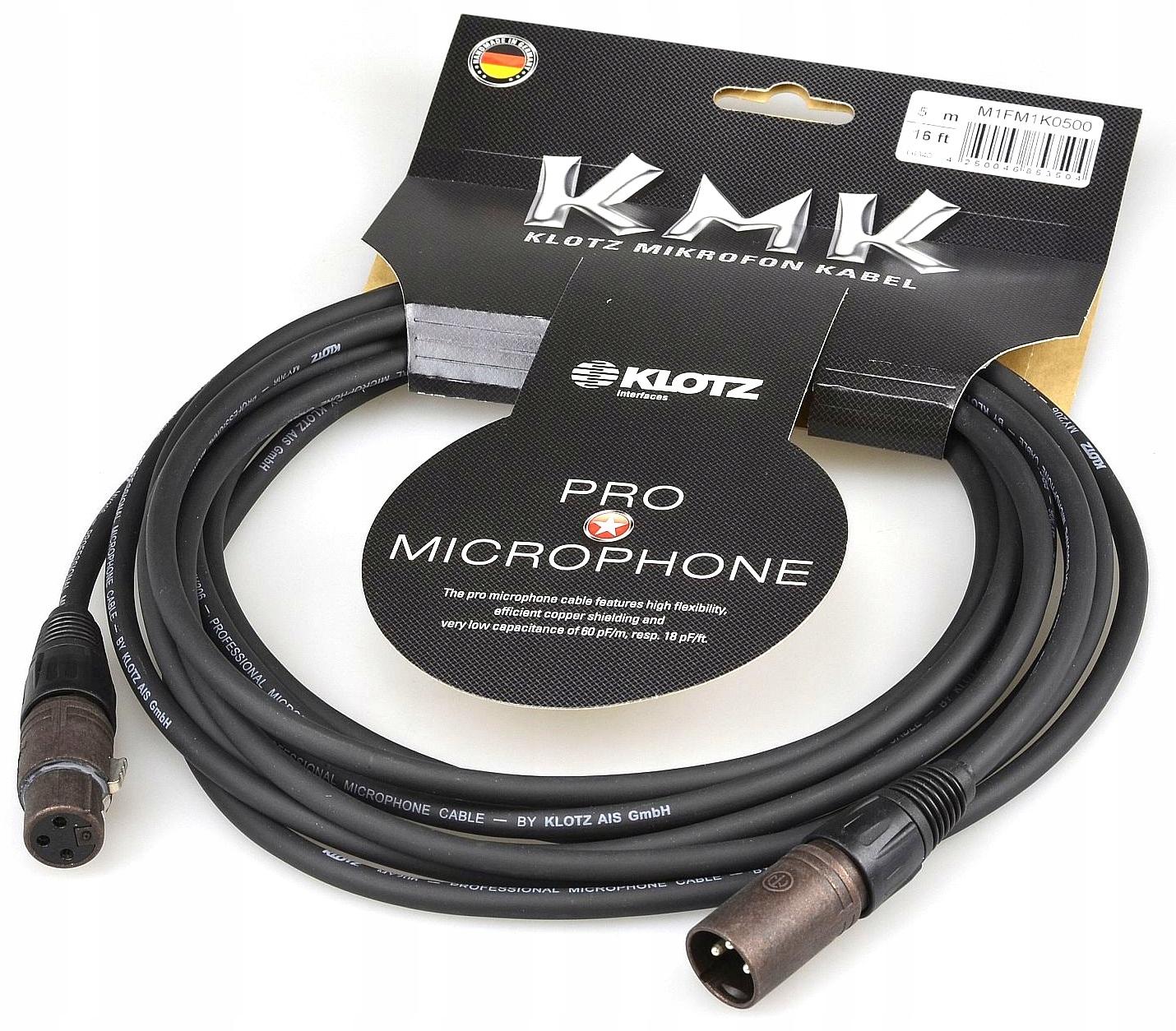 Item KLOTZ KMK Kabel mikrofonowy XLR Cannon NEUTRIK 3m