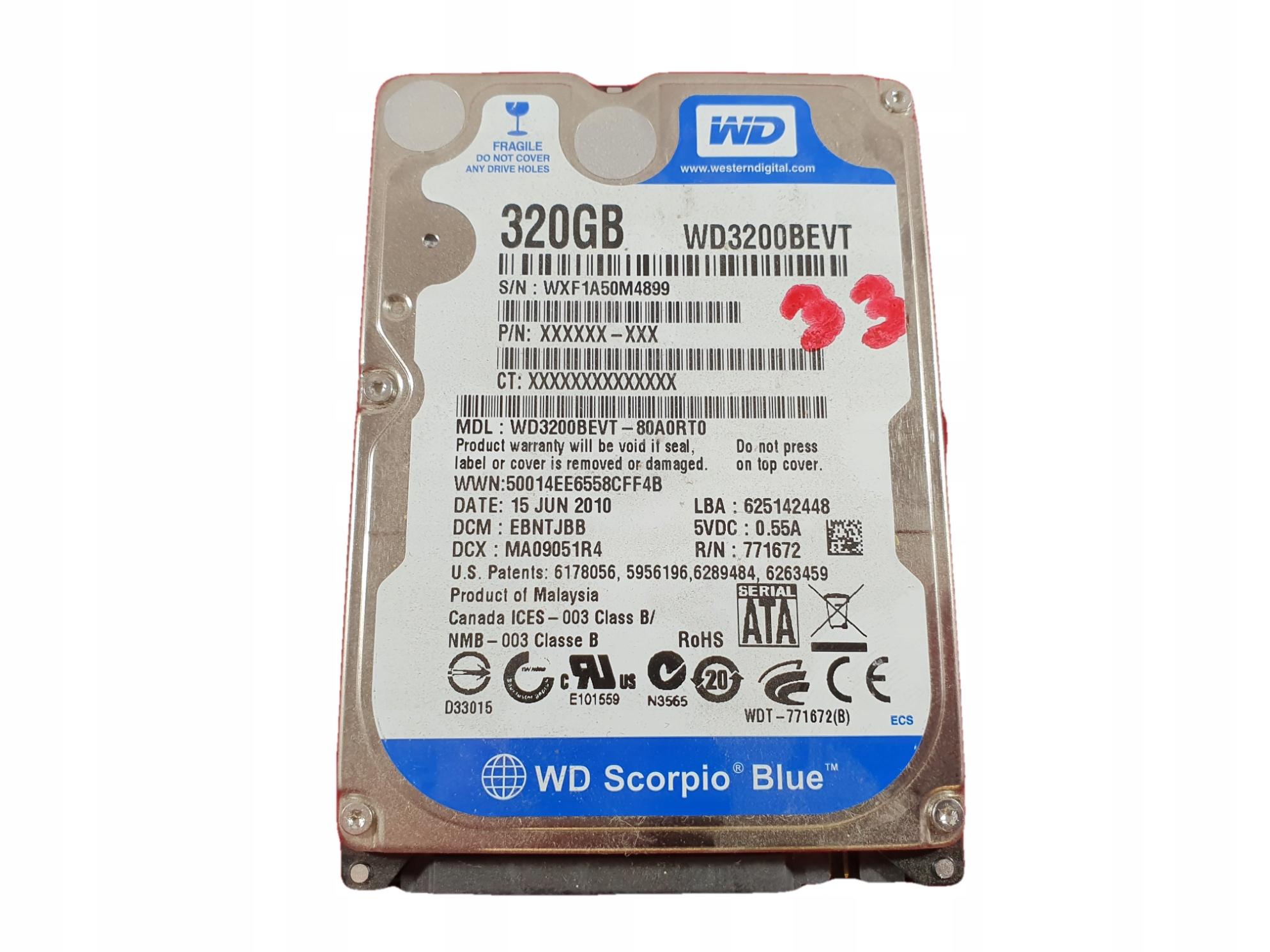 Купить Электроника жесткого Диска WD WD3200BEVT LAPTOKI_PL на Otpravka - цены и фото - доставка из Польши и стран Европы в Украину.