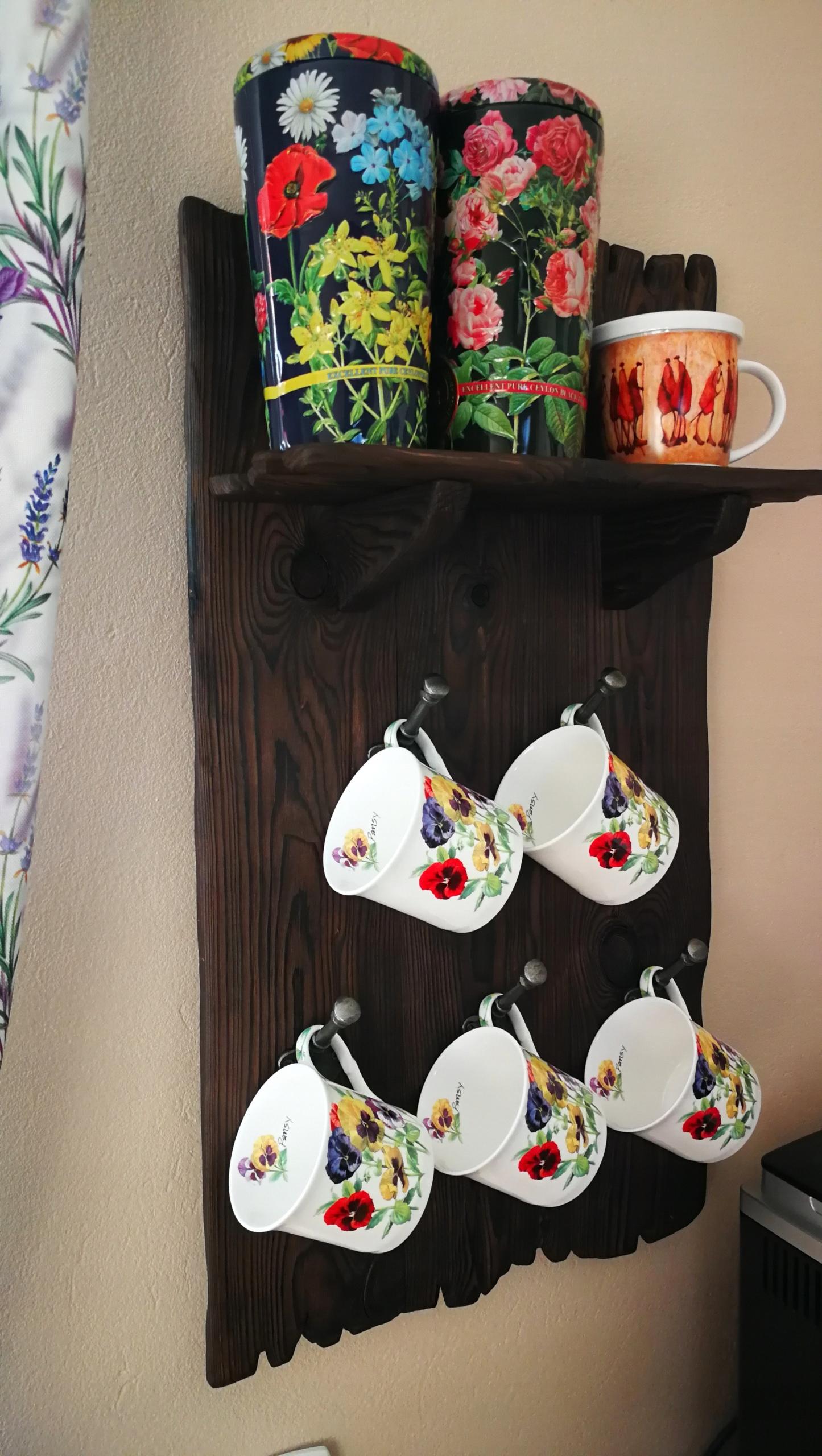 Vešiak dreva vintage rustikálne kuchyne loft