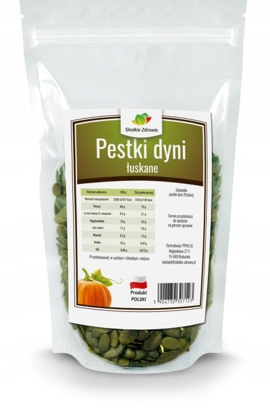 Лущеные, свежие польские, очищенные тыквенные семечки 1 кг