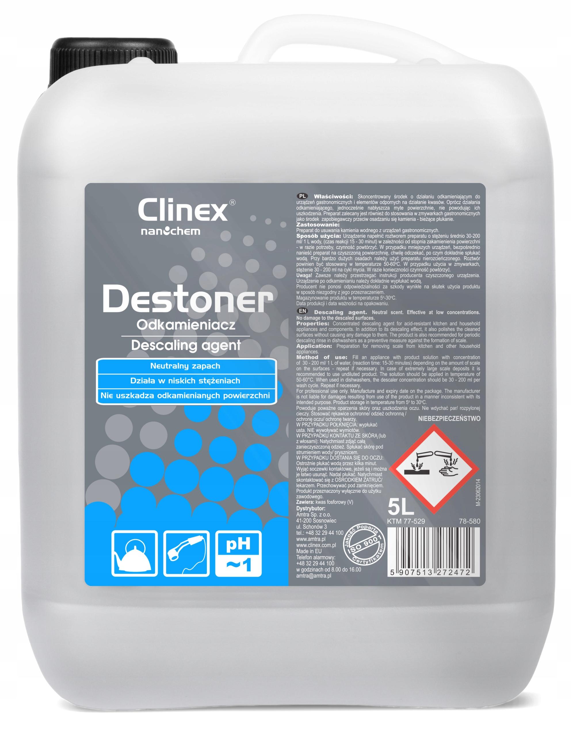 CLINEX DESTONER - DESCALER KONCENTRÁT - 5L
