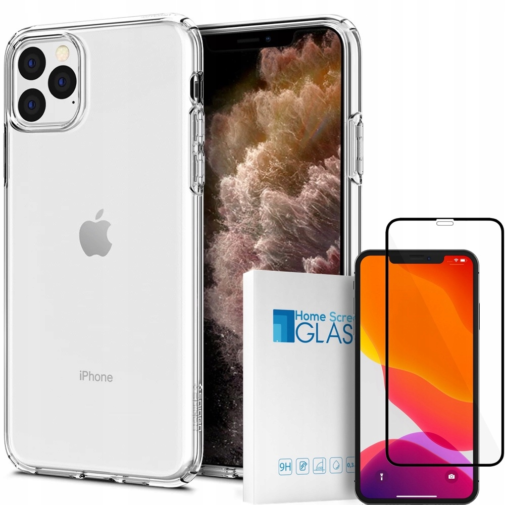 Etui Do Iphone 11 Pro Max Spigen Liqud+szkło Hs 3D