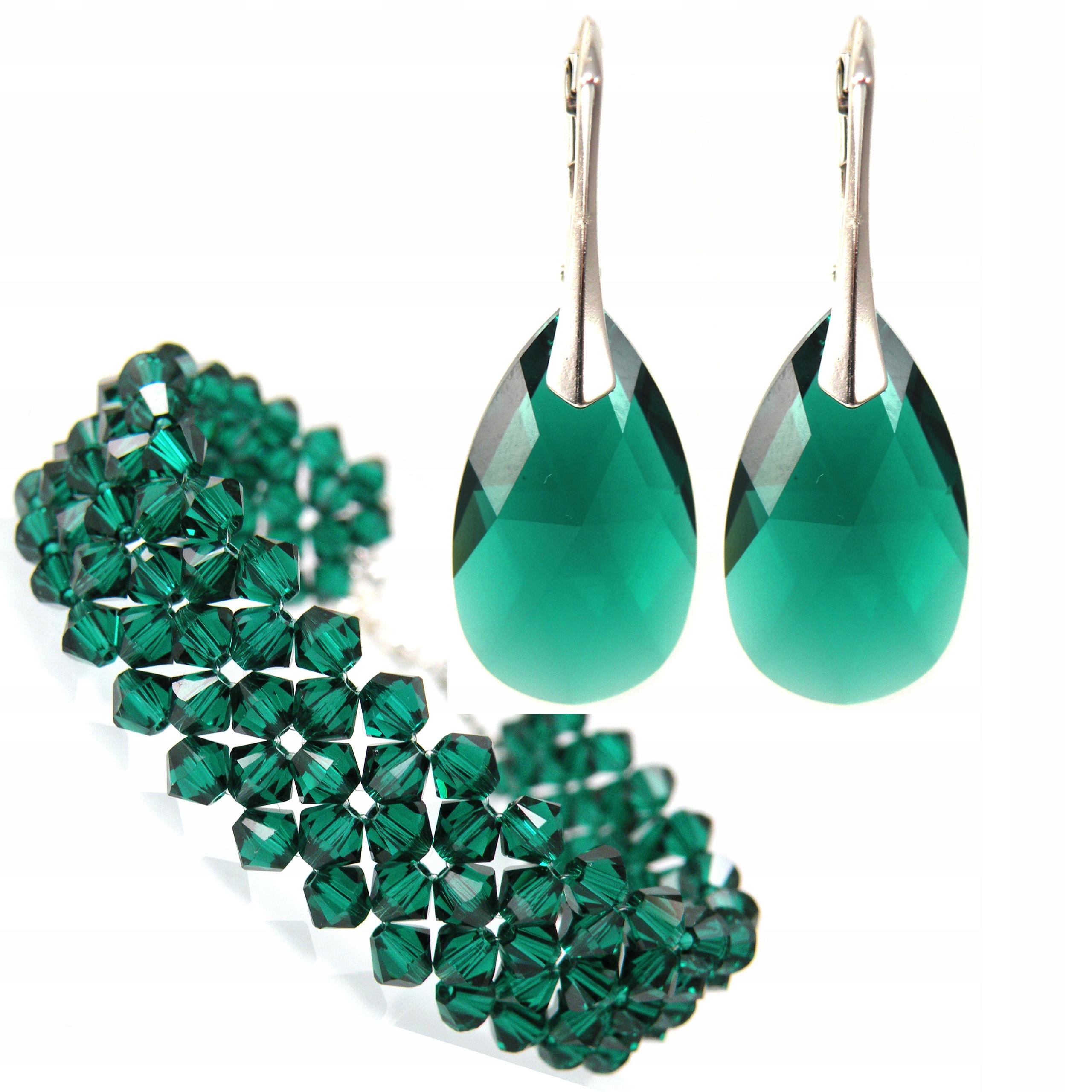 Set SWAROVSKI kryštály smaragdovo zelená