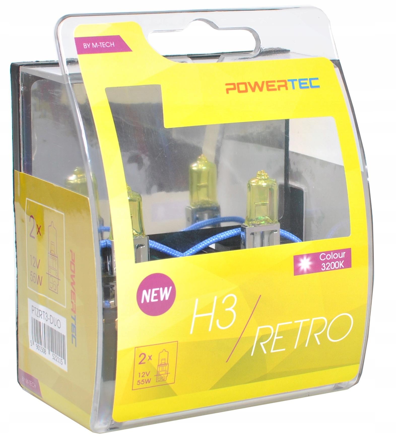 Lampa ZLATÁ Retro štýl H7 12V Powertec M-Tec