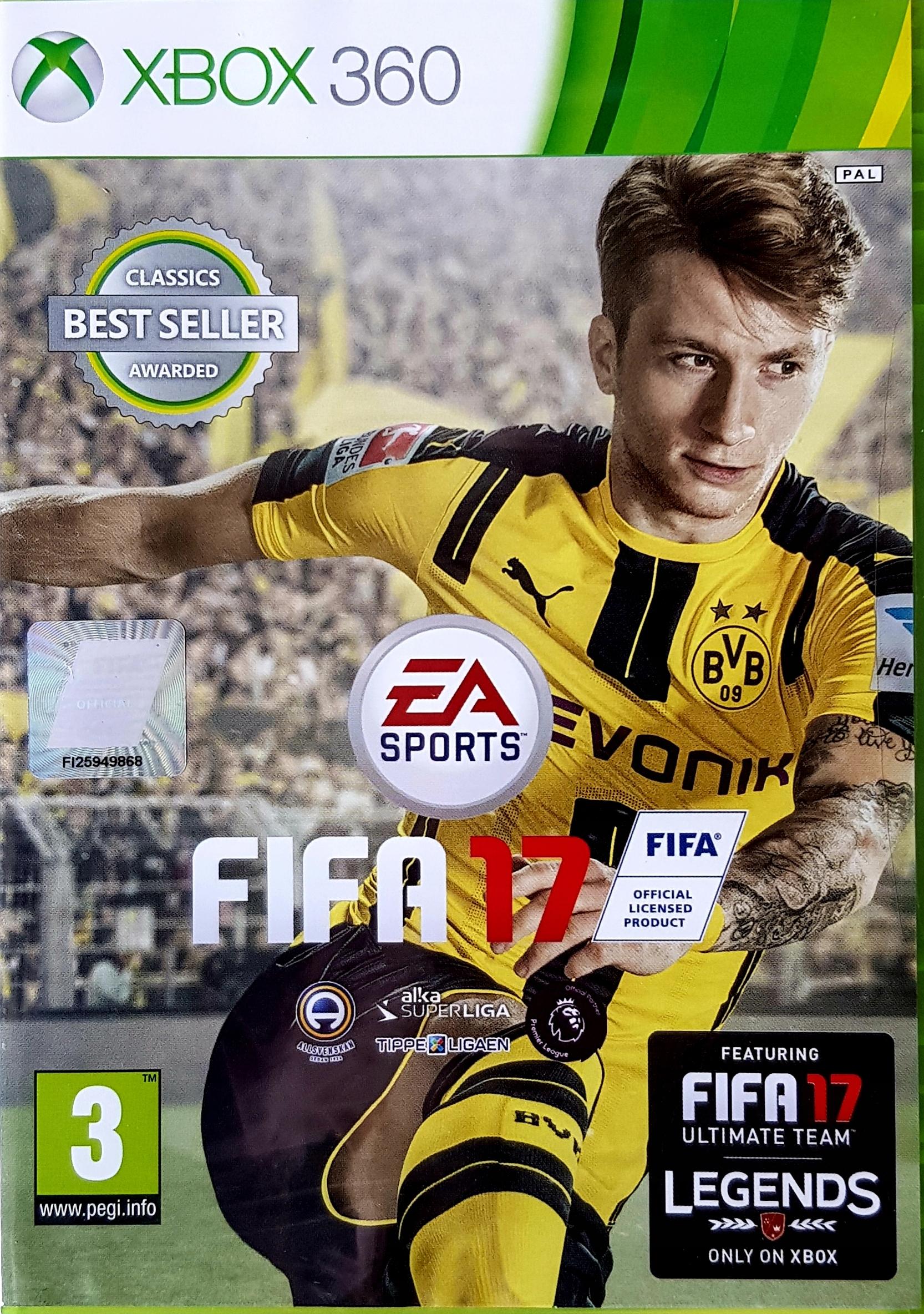 Xbox360 Fifa 17 Nowa Folia Stan Nowy 9052266949 Allegro Pl