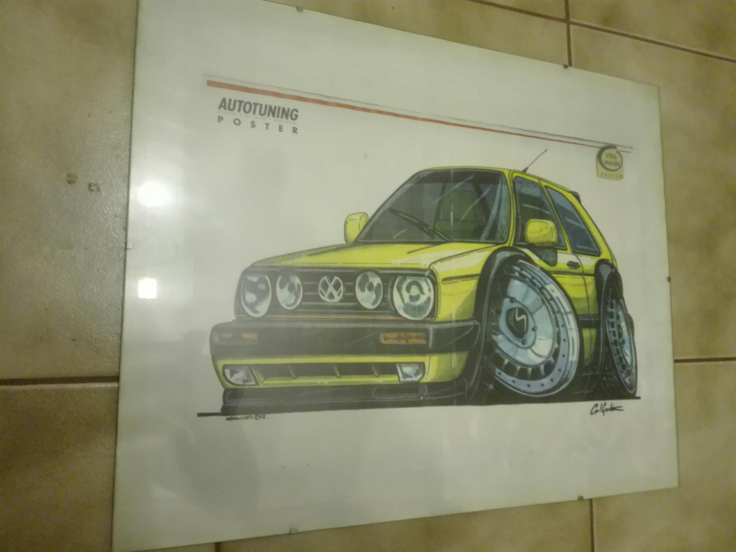 Vw Golf Ii Plakat Jak Z Komiksu Tuning 8060546088 Allegro Pl