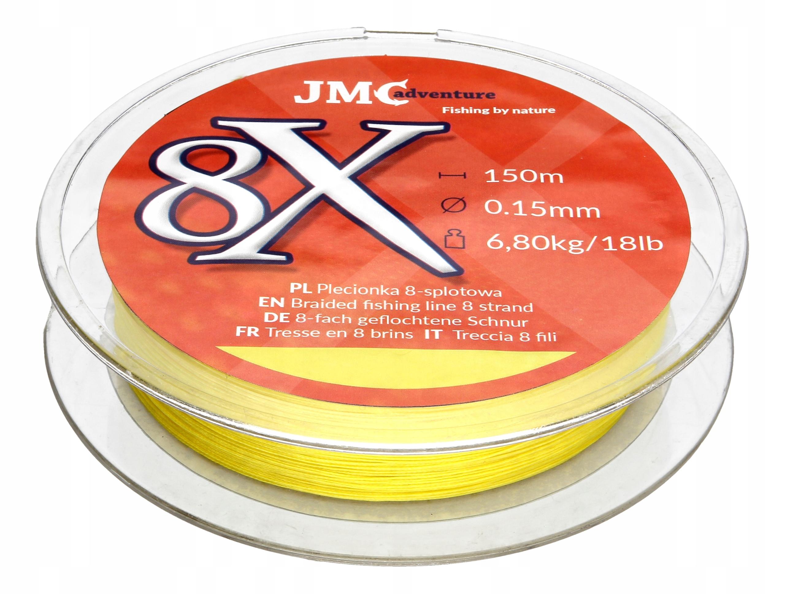 JMC Adventure Rybársky kúsok 8x 0,15 mm 150m