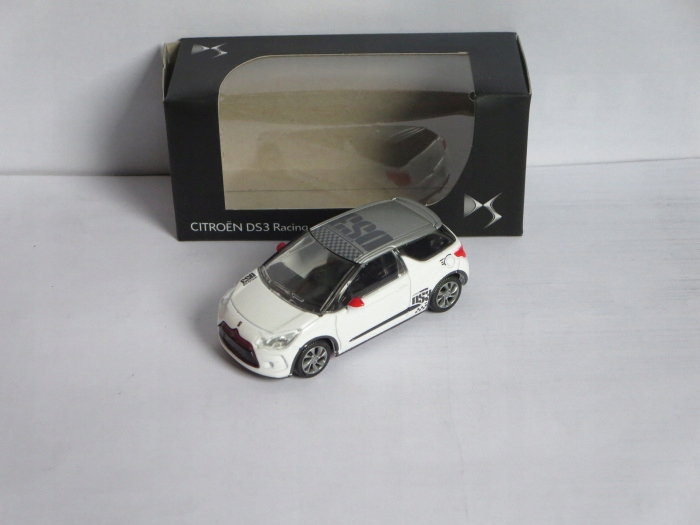 Norev Minijet 1:58 Citroen DS3 Racing белый серебристый