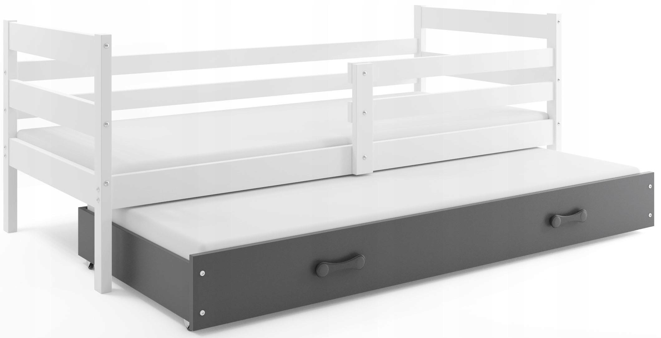 Łóżko wysuwane piętrowe 190x80 ERYK dla dzieci