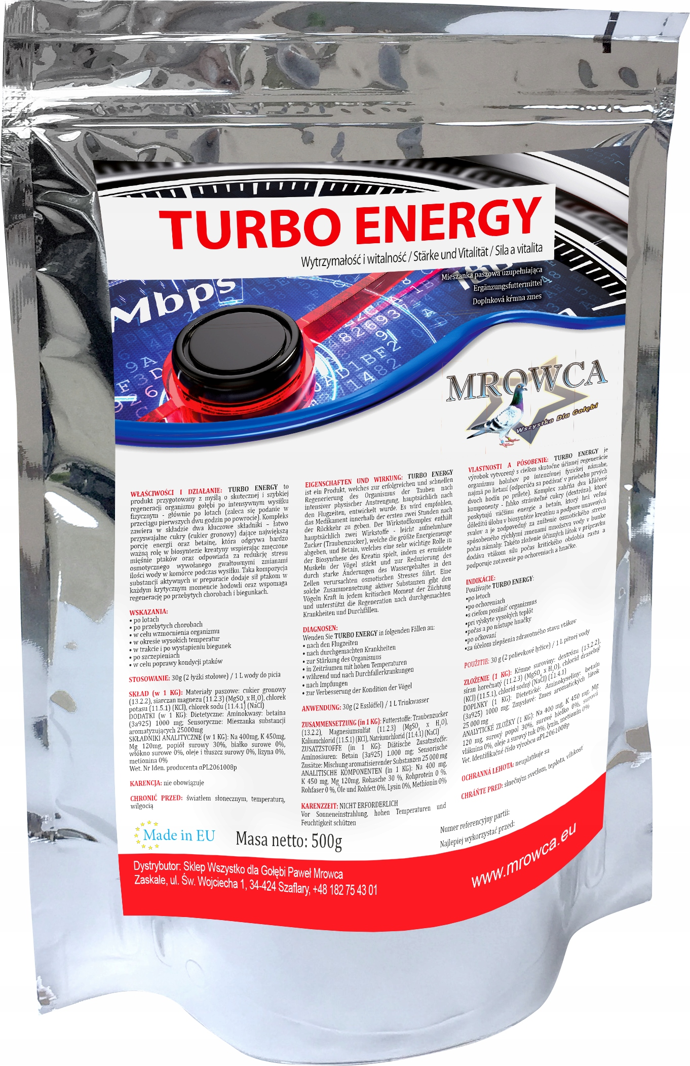 MROWCA Turbo energy 500g