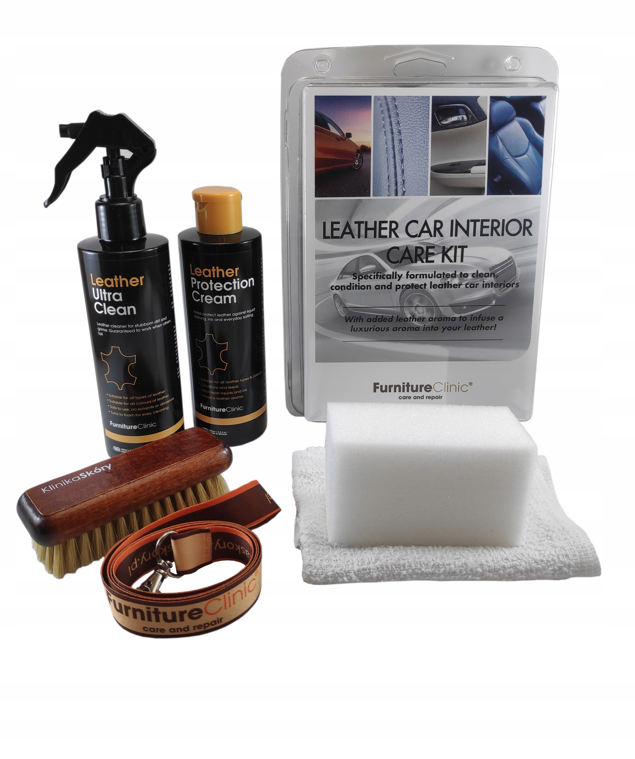 Leather Car Interior Care Kit, 2X250 мл + БЕСПЛАТНО
