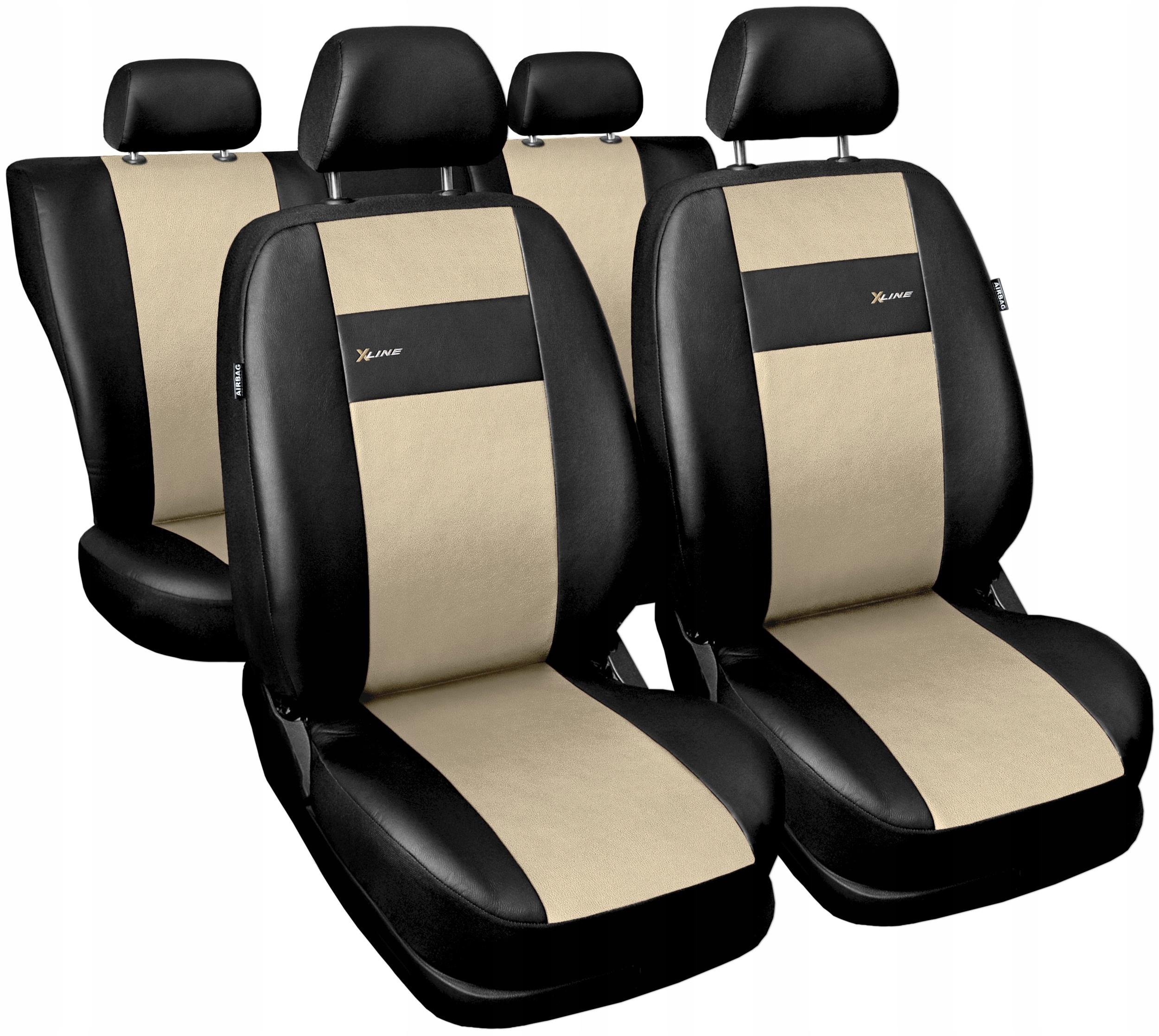 Pokrowce Na Siedzenia Eko Skora X Line Uniwersalne Prostki Allegro Pl