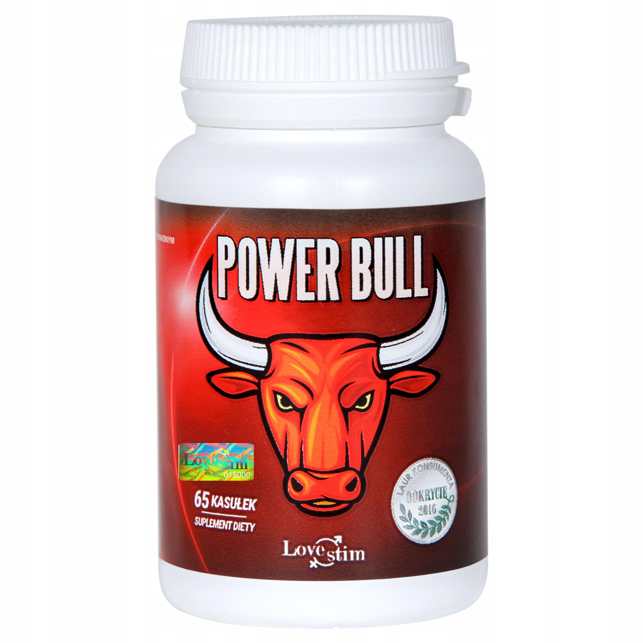 Power Bull 65kaps wzmacnia Testosteron i Erekcję