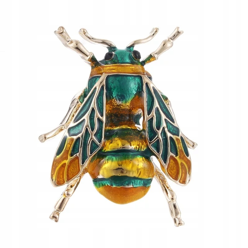 Broszka Owad pszczoła zielona Osa wysoka jakość
