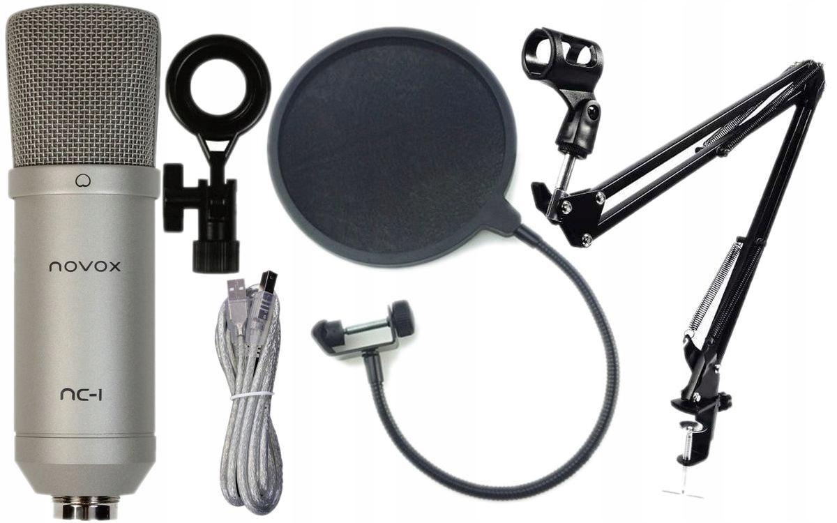 NOVOX NC-1 S USB-микрофон + MSX1 ARM + POP-ФИЛЬТР